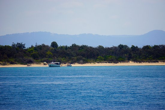 Broadwater, Austrália: Park you boat, ski or paddle craft for a tropical island escape!