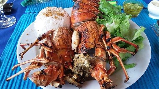 Baguida, Того: Langouste grillée... delicieuse