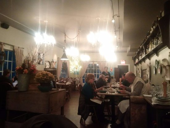 Bragg Creek, Canada: the lower dining room on a Wednesday evening
