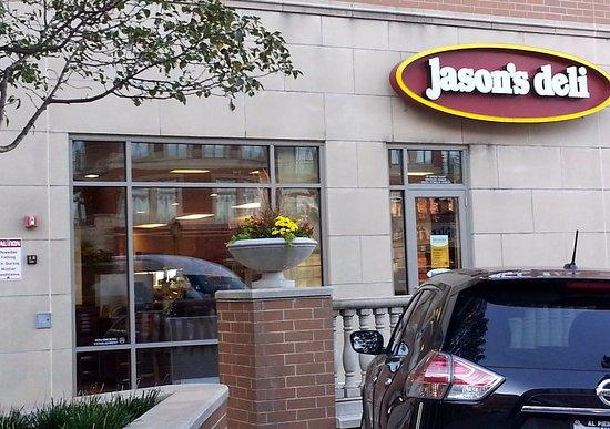พาร์คริดจ์, อิลลินอยส์: parking lot entrance to Jason's Deli