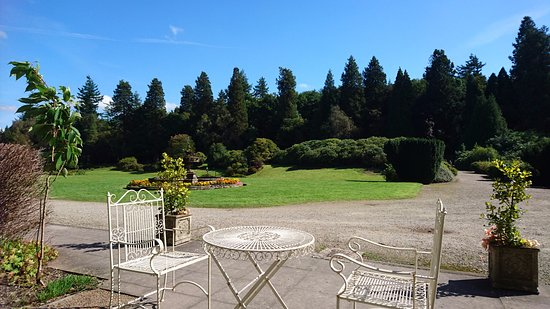 Gregynog Hall: Tea & cakes at the front entrance