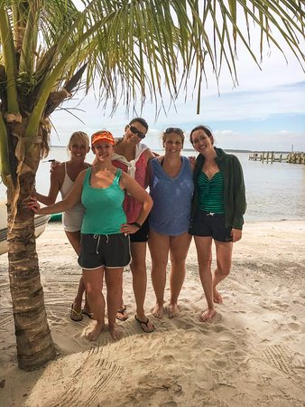 48th St. Watersports: The girls on the launch beach