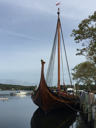 Mermaid Inn of Mystic: All the way from Norway. See her at the Mystic Seaport Museum.
