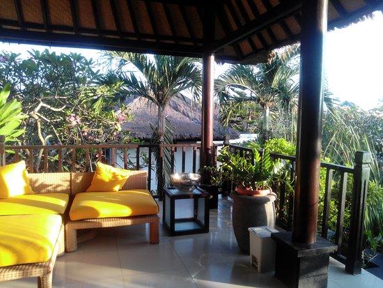 Medahan, Indonesia: Terrasse