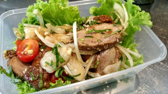 Blue Elephant Cooking School: Take away after cooking class - Duck Salad with Lychee