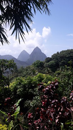 Soufriere Quarter, St. Lucia: View From Beacon Gardens. Lunch Stop While on Tour!