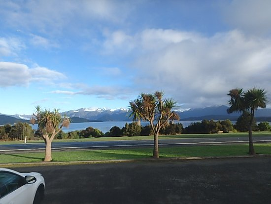 From front door of room tripadvisor for Manapouri lakeview motor inn
