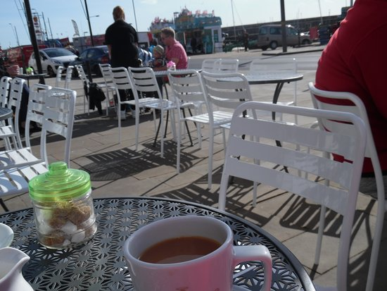 The Waterfront Cafe: View and cuppa