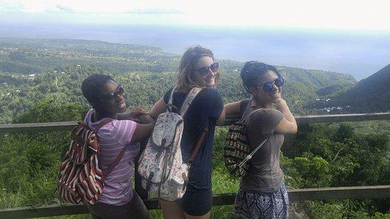 Soufriere Quarter, St. Lucia: View From Tet Paul! A trail stop along Soufriere Tour