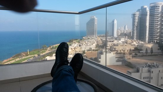 Ramada Hotel and Suites Netanya: View from a balcony of a suite