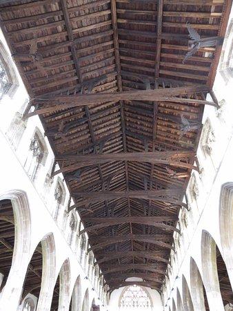 St Nicholas' Chapel: Angel roof in the chapel
