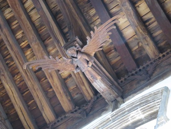 St Nicholas' Chapel: Zoomed up view of an angel