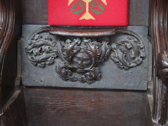 Kings Lynn Minster: Green man misericord