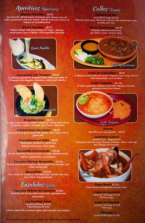 los potrillos menu page 1