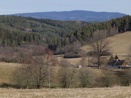 Horice na Sumave, Tsjekkia: Kleť od Hořic na Šumavě