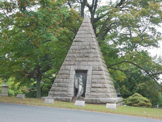 Cedar Hill Cemetery: Unique Pyramidal Tomb