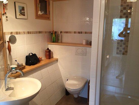 Chatillon-sur-Cluses, Fransa: La salle de bain bien equipé