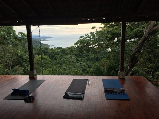 Anamaya Resort & Retreat Center: the serene upper yoga deck