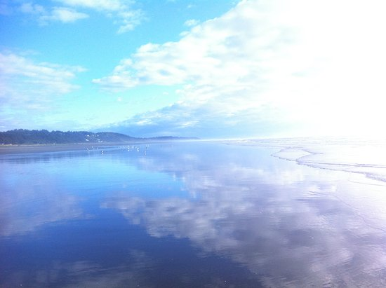 Moclips, Вашингтон: Blue sand, sea, sky