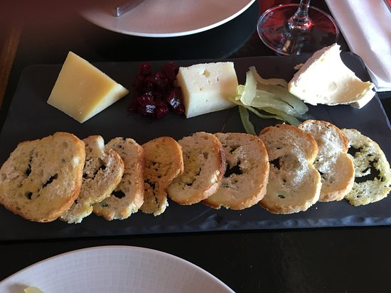 Preservation Bread and Wine : The european cheese plate with beets and watermelon rind pickles