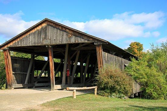 Shelburne, VT: A Covered Bridge 1845
