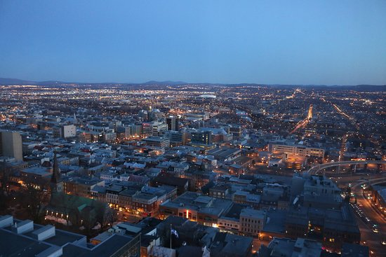 Hilton Quebec: View from our room just before sunrise.