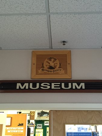 Whitefish, MT: A simple sign over the entrance to the museum. No photos are allowed inside.