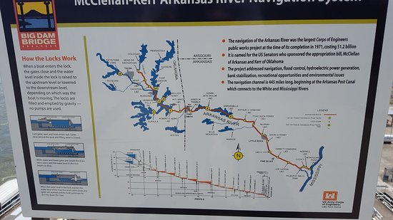 This is a map of the area Picture of Big Dam Bridge Little Rock