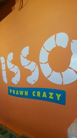 isso logo is soo cool depicts the process of prawn preparation