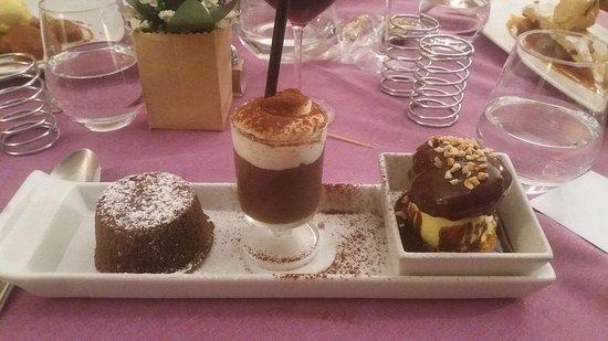 Le Romantica: trio chocolat