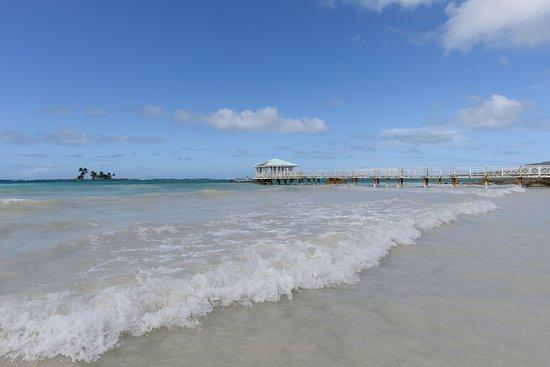 Blick vom Strand des Hotels