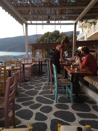 Aegiali, Grekland: Fantastiskt lunchställe!