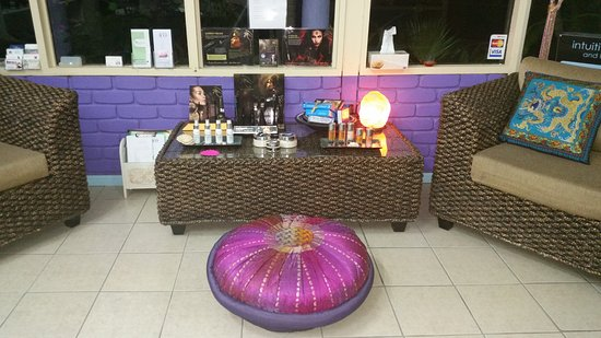 Intuitive Massage: Relaxing in our reception area