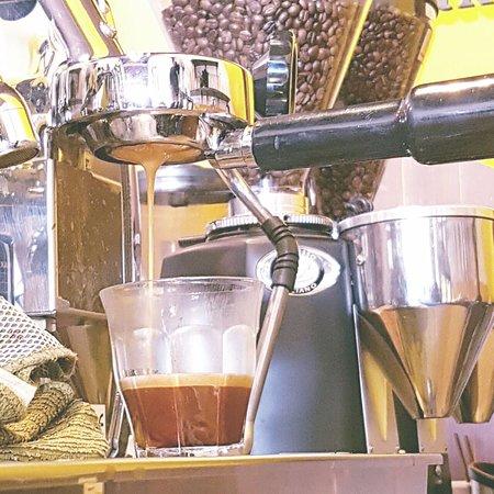 Professional espresso machine and barista!
