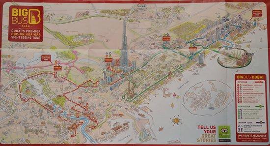 Map Dubay Picture Of Big Bus Tours Dubai Tripadvisor: Dubai Bus Tour Map At Infoasik.co