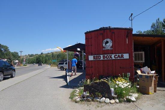 Red Lodge, MT: vue du parking
