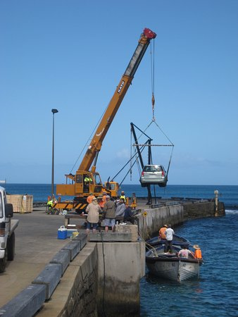 Kingston, Australia: Another new car being offloaded
