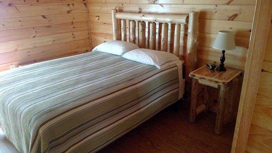 Oliver Springs, TN: Mini cabin bedroom (1 bedroom unit)