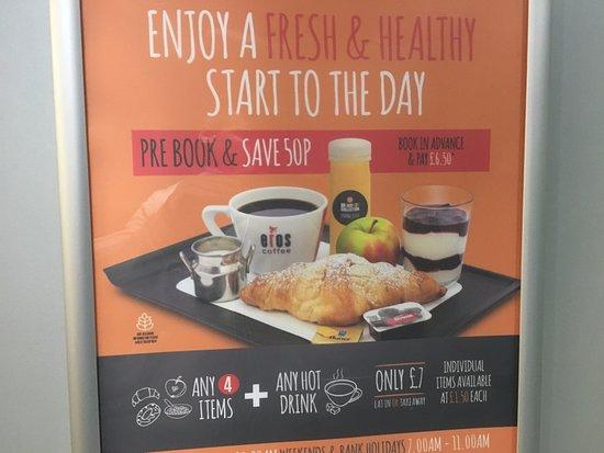 Point A Hotel, London Liverpool Street: Desayuno precio