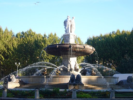 Tastes of Provence - Tours: The Fountain in the Rotunda on Cours Mirabeau in Aix