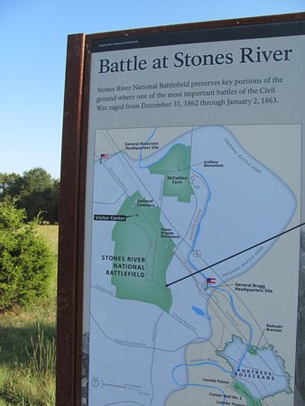 Stones River National Battlefield: Plaque at Stones River