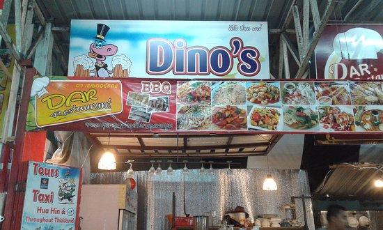Nilawan Guest House Hua Hin: un petit coin pour mangé le soir ...super à 300m à droite sur la grande rue dans le petit marché