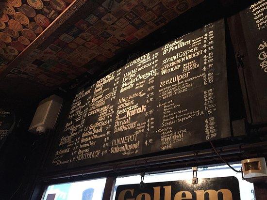 Biercafe Gollem: Beer List