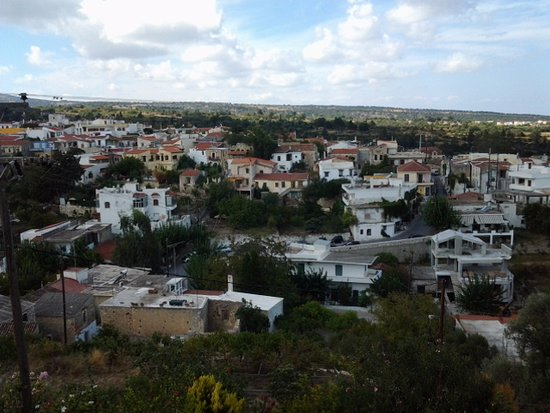 Rethymnon Prefecture, Grèce : View from the top of the village