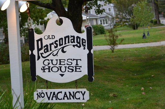 Old Parsonage Guest House: The sign outside The Old Parsonage