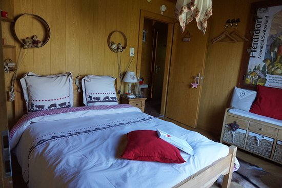 """Vex, Ελβετία: la chambre """"Heidi"""""""