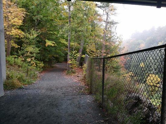 Quechee, VT: path to bottom