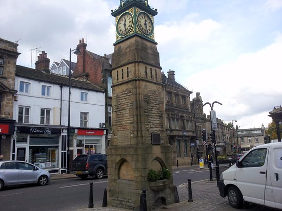 Otley, UK: View of The Jubilee Clock