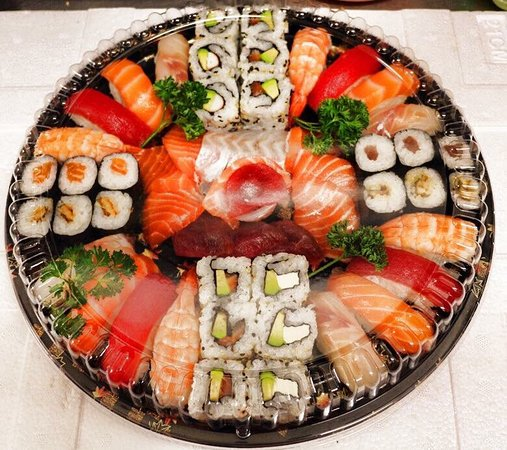 Châtillon-sur-Seine, França: sushi party box!