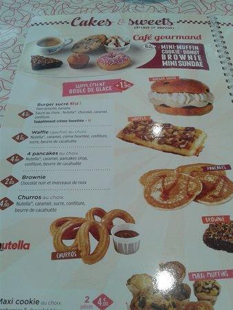 Puilboreau, Francia: Churros ou gaufre au beurre de cacahuètes...